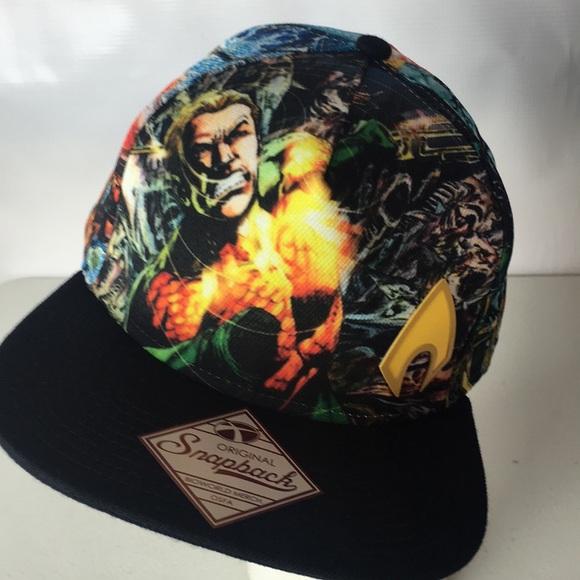 cheap for discount d3acf 7107d AQUAMAN Hat DC Comics Sublimated Allover Print